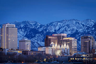 Salt Lake City Poster by Brian Jannsen