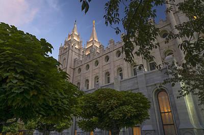 Salt Lake City Temple Poster by Dustin  LeFevre