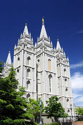 Salt Lake Mormon Temple Poster by Charline Xia