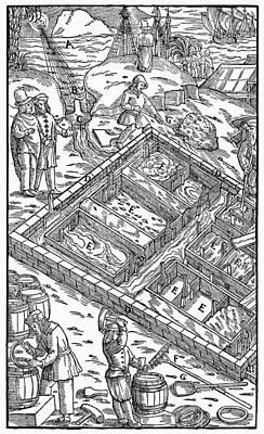 Salt Mining, 1556 Poster by Granger