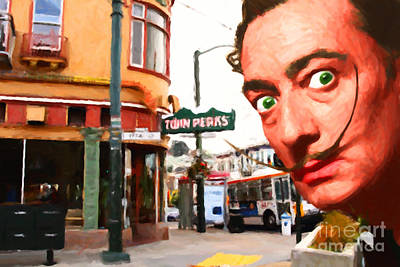Salvador Dali Is Intrigued By Twin Peaks Bar In San Francisco Ca Poster by Wingsdomain Art and Photography