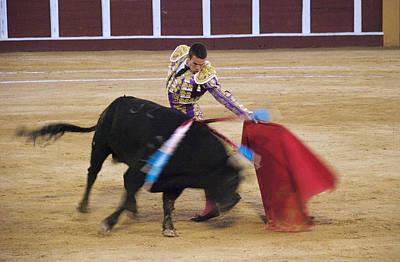 Salvador Vega During A Bullfight In The Bullring Poster by Perry Van Munster