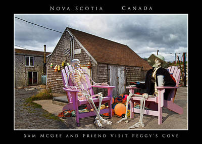 Sam And Peggy's Cove Poster by Betsy C Knapp