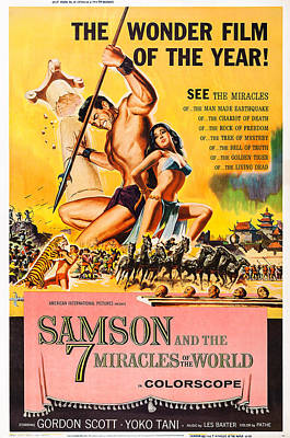 Samson And The 7 Miracles Of The World Poster by Everett