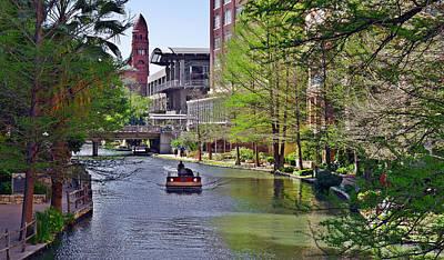 San Antonio River Walk Poster by Christine Till