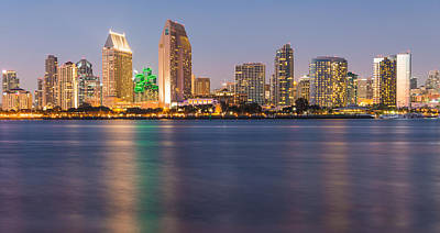 San Diego From Coronado Island - City Skyline Photograph Poster by Duane Miller