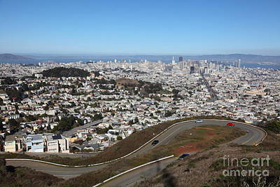 San Francisco California From Twin Peaks 5d28053 Poster by Wingsdomain Art and Photography