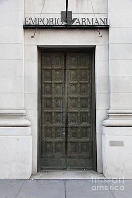 San Francisco Emporio Armani Store Doors - 5d20538 Poster by Wingsdomain Art and Photography