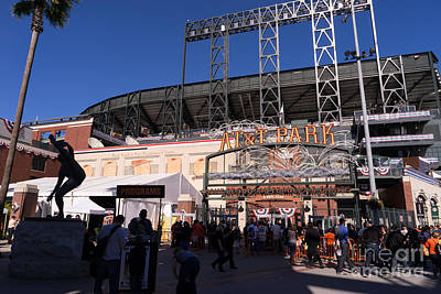 San Francisco Giants World Series Baseball At Att Park Dsc1896 Poster by Wingsdomain Art and Photography