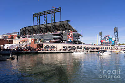 San Francisco Giants World Series Baseball At Att Park Dsc1906 Poster by Wingsdomain Art and Photography