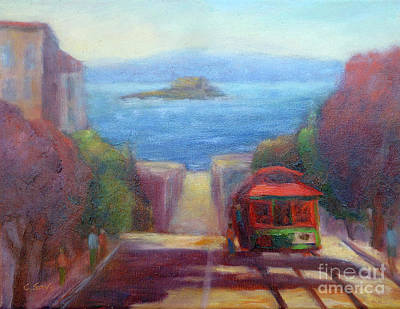 San Francisco Hills Poster by Carolyn Jarvis
