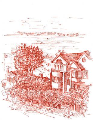 San Francisco Leavenworth Street Bay View Poster by Irina Sztukowski