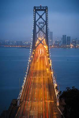 San Francisco - Oakland Bay Bridge Poster by Adam Romanowicz