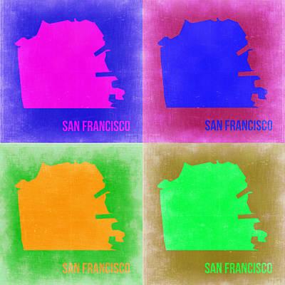 San Francisco Pop Art Map 2 Poster by Naxart Studio