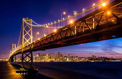 San Francisco - Under The Bay Bridge Poster by Alexis Birkill