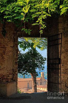 San Gimignano Door Poster by Inge Johnsson