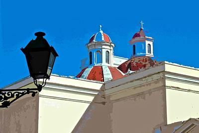 San Juan Cathedral Domes Poster by Ricardo J Ruiz de Porras