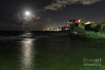San Juan Full Moon Scenic Poster by George Oze