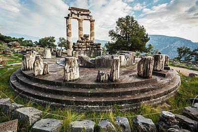 Sanctuary Of Athena  Delphi, Greece Poster by Reynold Mainse