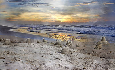 Sandcastle Sunrise Poster by Betsy C Knapp