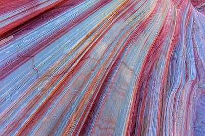 Sandstone Striping In The Vermillion Poster by Chuck Haney