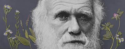 Sandwalk Wood- Charles Darwin.  Poster by Simon Kregar
