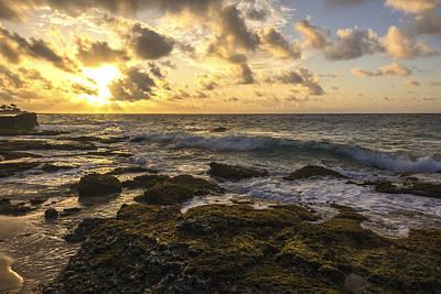 Sandy Beach Sunrise 11 - Oahu Hawaii Poster by Brian Harig
