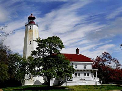 Sandy Hook Lighthouse Nj Poster by Skip Willits