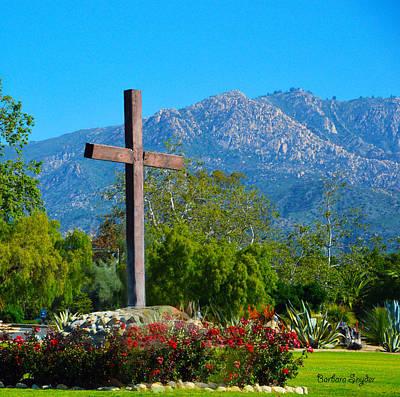 Santa Barbara Mission Cross Poster by Barbara Snyder
