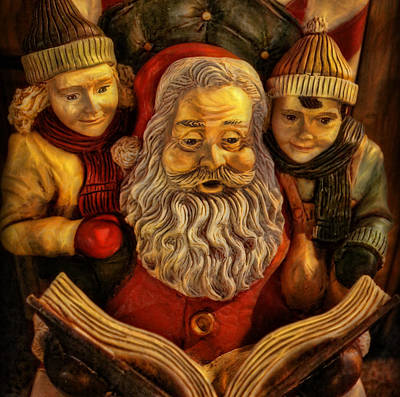 Santa Claus - Read Us A Story II Poster by Lee Dos Santos