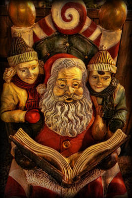Santa Claus - Read Us A Story Poster by Lee Dos Santos