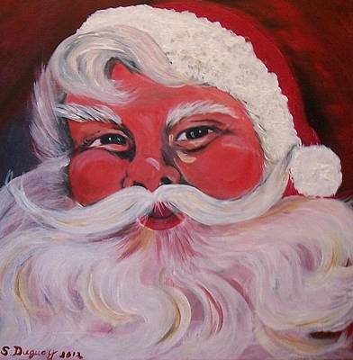Santa Clause Poster by Sharon Duguay