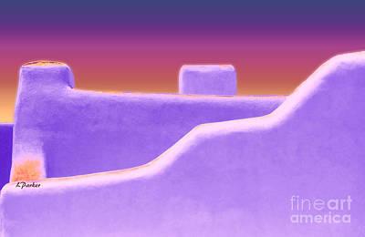 Santa Fe Sunset Poster by Linda  Parker
