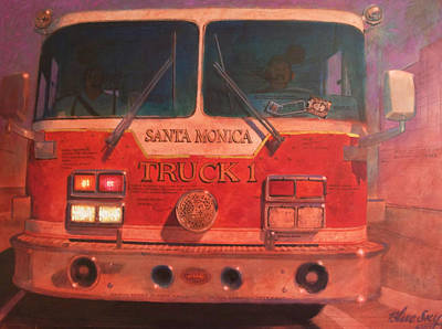 Santa Monica Truck One Poster by Blue Sky