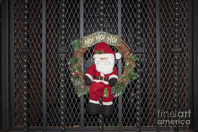 Santa On A Metal Grate Poster by Thomas Marchessault