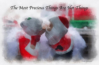 Santa The Most Precious Photo Art Poster by Thomas Woolworth