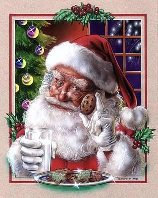 Santa Poster by Tim  Scoggins