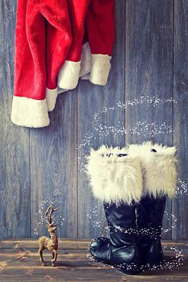 Santa's Boots Poster by Amanda Elwell