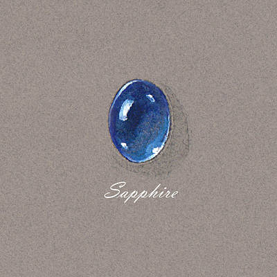 Sapphire Cabochon Poster by Marie Esther NC