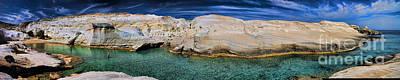 Sarakiniko Beach In Milos Island Greece Poster by David Smith