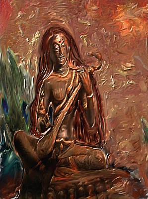 Saraswati Playing Veena Poster by Shubnum Gill