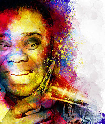 Satchmo Louis Armstrong Poster by Shanina Conway
