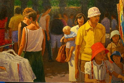 Saturday Market Poster by Terry Perham