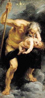 Saturn Devouring His Son Poster by Peter Paul Rubens