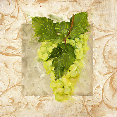 Sauvignon Blanc Poster by Lourry Legarde