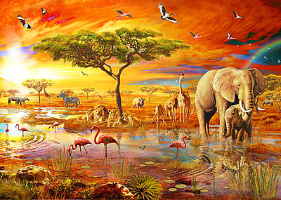 Savanna Pool Poster by Adrian Chesterman