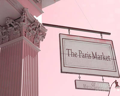 Savannah Georgia French Market - The Paris Market And Brocante - Parisian Flea Market Brocante Shop  Poster by Kathy Fornal