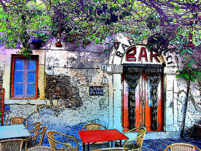 Savoca Godfather Bar Poster by Sorin Ghencea