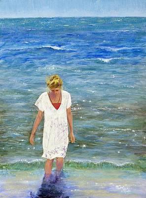 Savoring The Sea Poster by Margaret Bobb