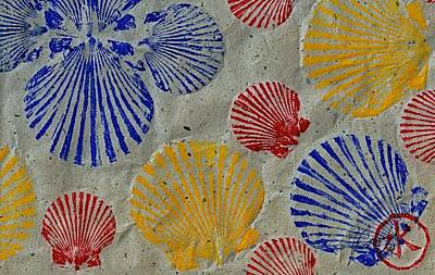 Scallops - Seafood Rainbow Poster by Jeffrey Canha
